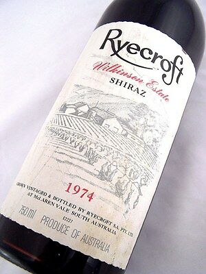1974 RYECROFT WILKINSON Estate Shiraz Isle of Wine