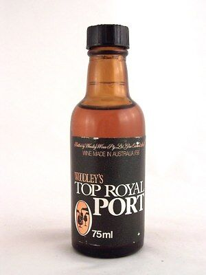 Miniature circa 1973 WOODLEY'S TOP ROYAL PORT 75ml Isle of Wine