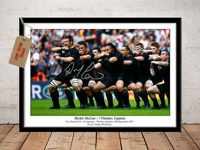 Richie Mccaw New Zealand Haka Rugby World Cup 2015 Signed Photo Print