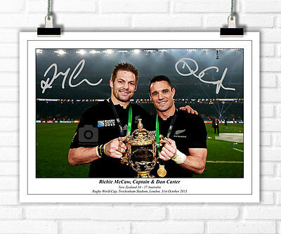 Richie Mccaw Dan Carter New Zealand Rugby World Cup 2015 Signed Photo Print