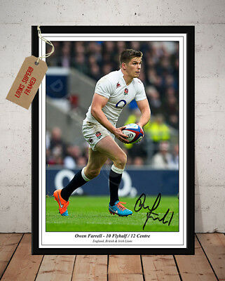Owen Farrell England Rugby Six Nations Autographed Signed Photo Print