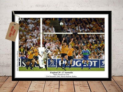 JONNY WILKINSON SIGNED Photo Print ENGLAND RUGBY WORLD CUP 2003 Free Postage