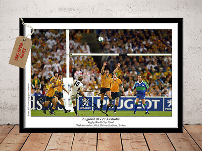 Jonny Wilkinson England Rugby World Cup 2003 Autographed Signed Photo Print