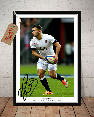 Danny Care England Rugby Grand Slam 2016 Autographed Signed Photo Print