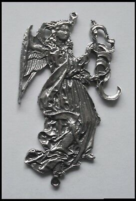 PEWTER CHARM #1357 ANGEL 2 Bail JOINER (63mm x 36mm) WINGS