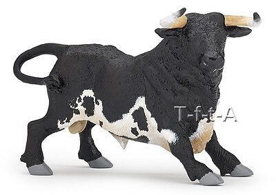 FREE SHIPPING | Papo 51164 Black & White Andalusian Spanish Bull -New in Package