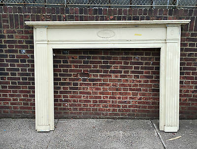 Wood Mantel, fireplace surround Federal style 87x61
