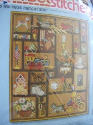 Sunset Stitchery Bits & Pieces Memory Box Crewel Embroidery Kit #2689-16x20 Inch