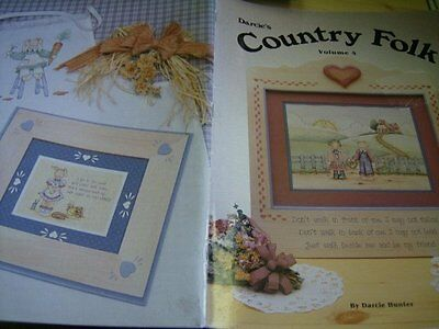 Darcie's Country Folk Painting Book #4 Teddy, Dolls, Children, Roses, Scenery
