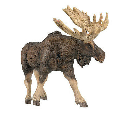 FREE SHIPPING | Papo 50065 Moose Model Wild Animal Figurine Toy - New in Package