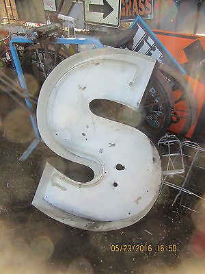 "Vintage market channel ""S"" letter,  Great for architectural decor"