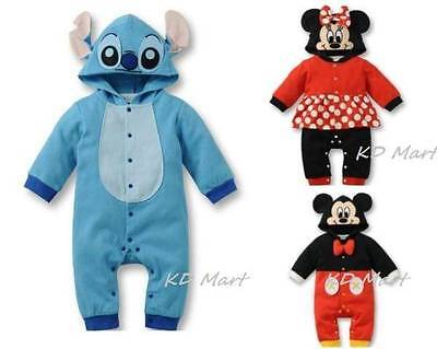 Baby Boys Girls Animal mickey Costume Bodysuit Outfit Character Romper 6M-18M