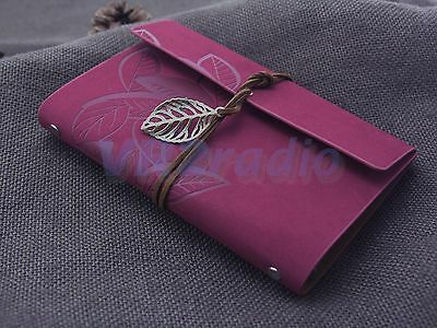 7 X5 Refillable Personalized Journals Classic Leather Notebook Blank Books Rosy