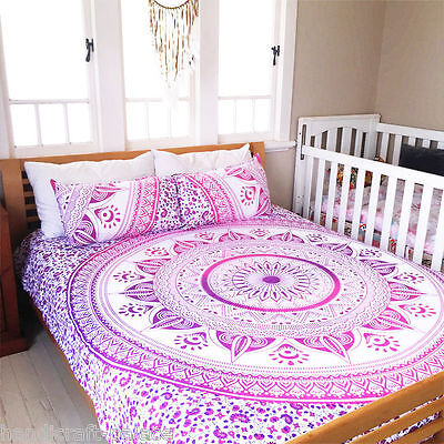 Indian Decor Ombre Mandala Tapestry Wall Hanging Hippie Throw Bohemian Bedspread