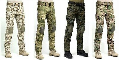 Tactical Military Hunting Camping EDU Combat Airsoft Gen3 Pants with Knee Pads