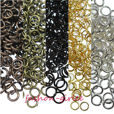 Wholesale Gold Plated Metal Jewellery Jump Rings Assorted 6 Colors Size 4-20mm