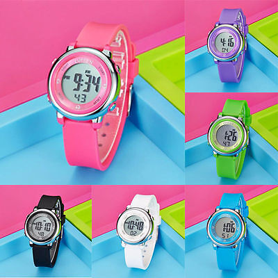 LED Women Kids Waterproof Digital Gifts Watch Wristwatch Watches Men Sports