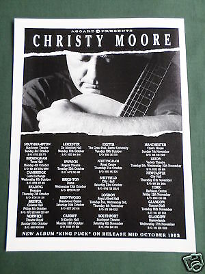 Christy Moore - Magazine Clipping / Cutting- 1 Page Advert