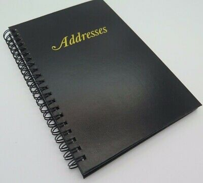 1 x Cumberland Black Address Book Spiral 185mm x 125mm 519105 *