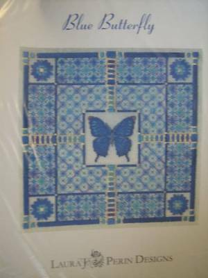 Sampler Collection Canvaswork Chart Blue Butterfly