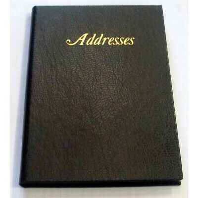 1 x Cumberland Black Address Book 195mm x 130mm 510105 *