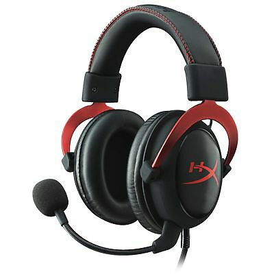 HyperX Cloud II 7.1 USB Gaming Headset Detachable Microphone Wired Over-Ear Red