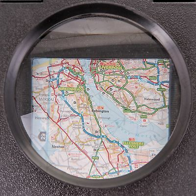 FREE STANDING MAGNIFYING GLASS Handy Folding Map Reading Optical Magnifier Lens