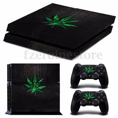 Weed Smoker Skin Sticker Cover For PS4 Playstation 4 Console Decal Set Vinyl
