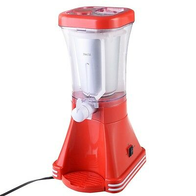 Red Retro Slush Drink Maker Machine Blender Ice Slushie Margarita Slurpee Frozen