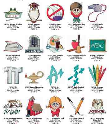 Teachers inspired Brother Machine Embroidery Designs PES CD,USB