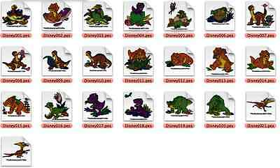 Land Before Time Brother Machine Embroidery Designs PES CD,USB