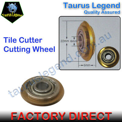 Titanium Coated Rotary Bearing Cutting Wheel Tile Cutter Replacement Spare Blade