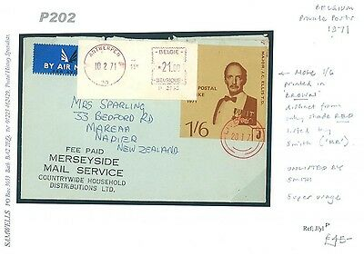 DBP202 1971	GB Liverpool Strike Post BELGIUM Antwerp/NEW ZEALAND Napier