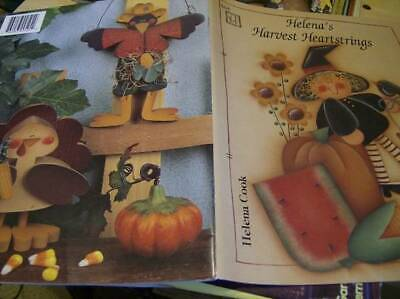 Helena's Harvest Heartstrings Painting Book Witches/Bunnies/Cats/Turkey/Teddy