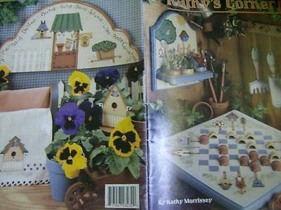 Kathy's Corner Painting Book Garden, Birdhouses, Birds, Tools, Flowers, Trees