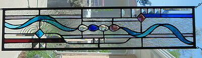 """Stained Glass window hanging 30 X 6 5/8"""""""