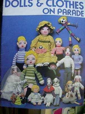 Dolls & Clothes On Parade Craft Sewing & Crochet Book- 20+ Projects