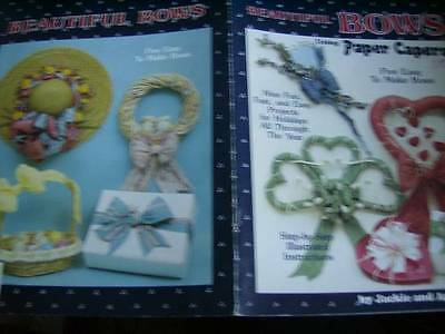 Beautiful Bows Using Paper Capers Craft Booklet -9 Projects, 5 Bows
