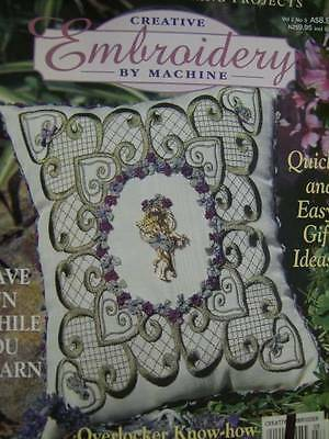 Creative Embroidery By Machine Aus 1999 Magazine V2#3 -12 Projects- Father Xmas