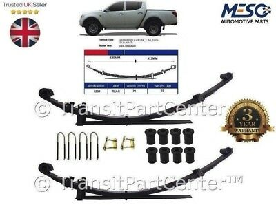 Pair Of O.e. Upgraded Rear 4+1 = 5  Leaves Leaf Spring Mitsubishi L200 2005-2015