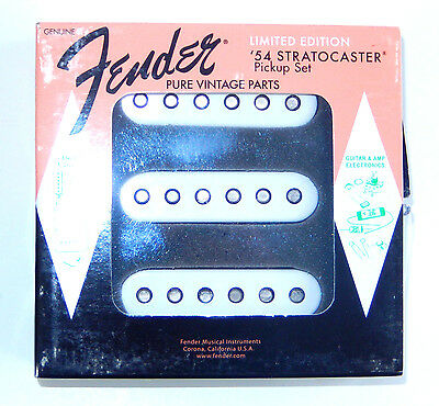 GENUINE FENDER Stratocaster 1954 LIMITED EDITION Pickup Set BRAND NEW EXCELLENT