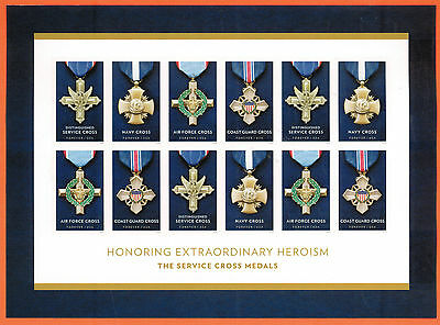 Honoring Extraordinary Heroism: The Service Cross Medals S/S of 12 stamps 2016
