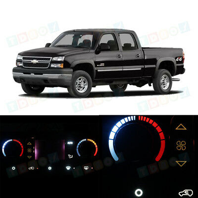 Red AC Temperature Climate Control Bulbs Knob LED Light for 03-06 Sierra w//LCD
