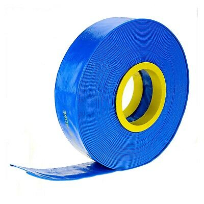 "30m x 1.5"" 38mm ID Outlet Layflat Hose Lay Flat Water Hose for Transfer Pump Etc"