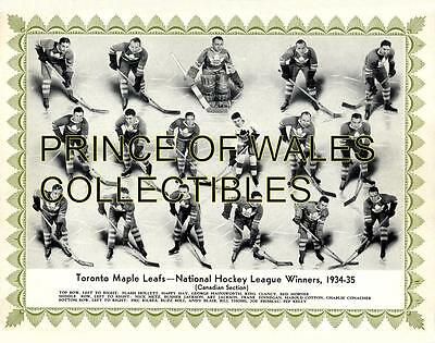 1935 Toronto Maple Leafs Team Photo 8X10