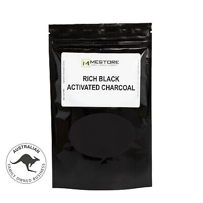Activated Charcoal Powder Premium Ultra Fine Rich Black for Soap Teeth Cosmetics