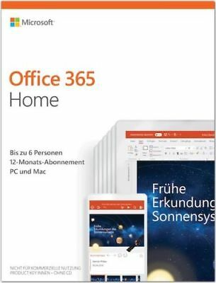 Microsoft Office 365 Home Premium - 5 PC - 5 MAC - 1 Jahres Abo MS Office 2016