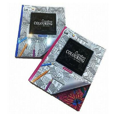 ** Adult Colour Therapy Book Stress Relief Book Relax Patterns Creative Gift New