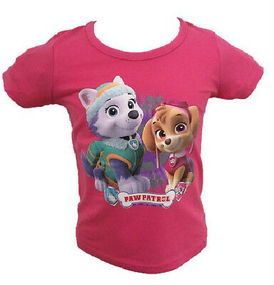 OFFICIAL PAW PATROL Pink Girls Childrens Kids Top / Tshirt Sizes 2 3 4 5 6 7 8