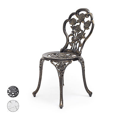 bistrostuhl gartenstuhl gartenm bel stuhl jugendstil antik aluminium metall eur 74 90. Black Bedroom Furniture Sets. Home Design Ideas